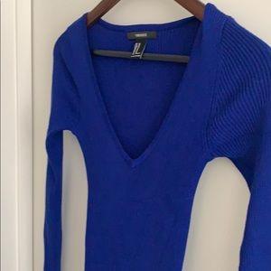 Royal blue midi tight dress from XXI